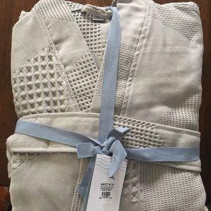 Intimates & Sleepwear - West Elm Geo Waffle Organic Cotton Robe